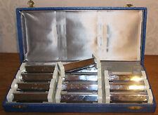Coffret de 12 portes Couteaux Bakelite et Inox en Parfait état 1970 Seventies