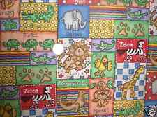 Jungle Time Animal Patch fabric, Bright, Colorful