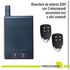 Kit ricevente ricevitore 220V 1000W + due telecomandi accensione luci faretti