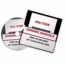 WALTHER AIRGUN AIR RIFLE GUN OWNERS MANUAL  USER  MANUALS BOOKS Disc  #Airrifle