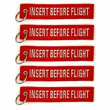5 Pack Insert Before Flight Key Chain Red aviation truck motorcycle