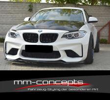 CUP Spoilerlippe SCHWARZ für M2 BMW F87 Frontspoiler Spoilerschwert M-Paket