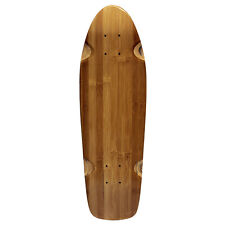 BAKED BAMBOO BEACH CRUISER SKATEBOARD DECK Old School Kick Shape Mini Lonboard