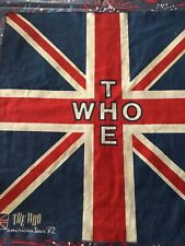 Vintage THE WHO 1982 American Tour Concert 20 In. Banner