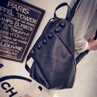 New Style Women's Girls Leather Travel Satchel Shoulder Backpack School Rucksack