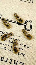 Alphabet letter G charm bronze vintage style jewellery supplies C32