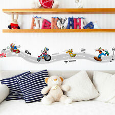 Mickey Mouse Riding Track Wall Sticker Vinyl Mural Decal Kids Baby Room Decor
