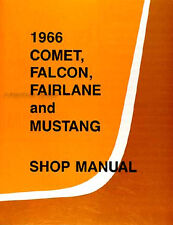Mustang Service Workshop Manual Book 1966 66 Coupe Convertible Fastback GT350 GT