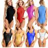 Women's One-Piece Swimsuit Monokini Stretch Dance Leotard Bodysuit Romper Shirt