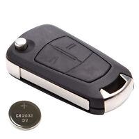 Coque avec plie 2 bouton pour Cle Opel CORSA D ANTARA ZAFIRA B boitier fob case