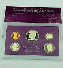1985 UNITED STATES PROOF COIN SET - 5 COINS - BRILLANT, UNCIRCULATED