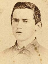 New listing Original Civil War Era CdV Young Man Soldier? Carte de Visite Photo Boy Antique