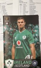 Ireland v Scotland February 2020 Six Nations rugby programme, official teamsheet