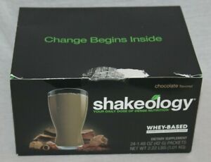 Shakeology Chocolate Flavored Whey-Based Superfood Nutrition Shake 19 Packets