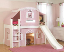 NEW Kids Twin Junior Loft Bed Curtain Pink Girl