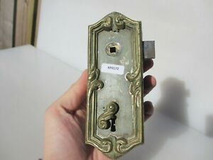 Victorian Brass Door Lock Plate Antique Georgian French Chateau Rococo Baroque