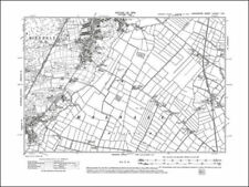 SE Old map of Warrington Lancashire 1908: 116NW repro