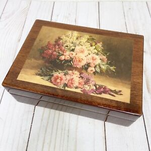 Romance Musical Swiss Movement Made By Reuge Rose Floral Jewelry Box