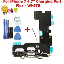 For iPhone 7 Charging Port Dock Connector Replacement With Microphone Flex WHITE