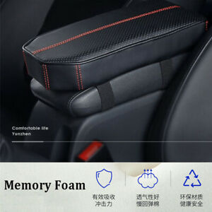 Car Center Console Armrest Pillow Pad Soft Memory Foam Pu Leather Cushion Cover