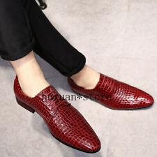 Zapatos De Vestir para Hombres Zapatos de negocios británicos Puntiagudo Zapatos de boda novio piel de serpiente