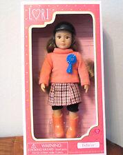 "Our Lori Doll FELICIA Equestrian Horse Riding Girl Small 6"" in plaid skirt NIB"