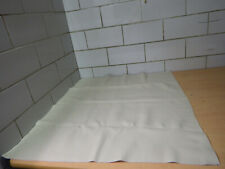 Leather Piece of Leather White Wool White 0,73m x 0,67m Approx. 0,49 Qm (422)