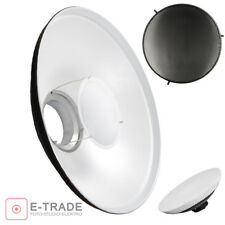 Studio WHITE Beauty Dish 70cm Bowens type with Honeycomb and Diffuser Softbox