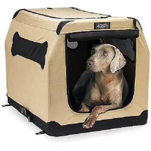 """Petnation Soft Sided Dog Crate, 36""""L  Easy carry multi-use Dog Cat Travel Clean"""