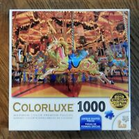 """Colorful Carousel 1000 Piece Jigsaw Puzzle COLORLUXE 20""""X27"""" - NEW"""