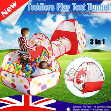 Kid Toddlers Tunnel Pop Up Play Tent Cubby Playhouse Indoor Outdoor Toy Boy Girl