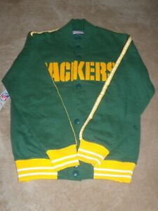 Brand New Mitchell & Ness NFL GREEN BAY PACKERS THROWBACK Jacket (sz. Small)