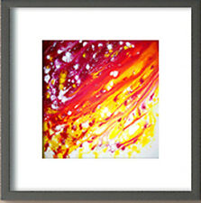 Modern Art. Plexiglass cover with black wooden frame. Special Offer