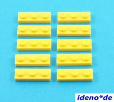 Lego Básico City Construcción 10 Unidades Placa 1 X 3 Amarillo 3623 362324