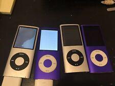 Lots 4 Apple ipod nano 4th Generation 8gb Bad LCD as is AC402