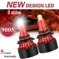 8-Sides 9005 HB3 LED Headlight Kit Mini CSP Bulbs 2200W 480000LM Fog Light 6000K
