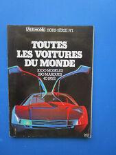"""L'Automobile """" TOUTES LES VOITURES DU MONDE """"  1979 - 1980  Hors-Série  N° 1"""
