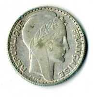 Moneda Francia 1933 10 francos Liberte Egalite Fraternite plata. 680 silver coin
