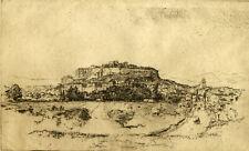 G.L. Moreau - 19th Century Etching, Rochers de Grignan