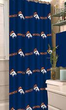 NFL Denver Broncos Fabric Shower Curtain 72 Football Fan Bath Decor Gift