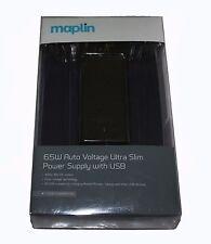 Maplin Ultra Slim 65W Alimentatore universale con Punte & Usb 10-RRP = £ 44.99