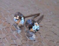 HYPOALLERGENIC Stud Earrings Swarovski Elements Crystal  April Birthstone CLEAR