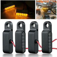 4X LED Mini Motorcycle Front Rear Turn Signals Indicator Blinker Light Lamp 8mm