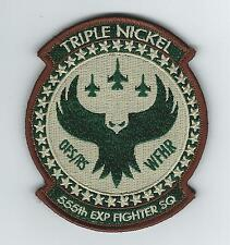 """555th EXPEDITIONARY FIGHTER SQUADRON """"WFHR"""" DESERT patch"""