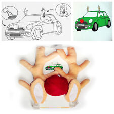 Car Christmas Short Plush Reindeer Antlers Red Nose Rudolph Funny Decoration Kit