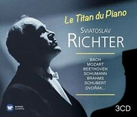 SVJATOSLAV RICHTER - TITAN DES KLAVIERS 3 CD NEU BACH/BEETHOVEN/BRAHMS/HÄNDEL/+