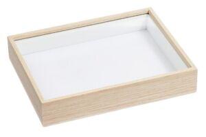 3d-Rahmen Holz-Optik + Glas für Bilder zum Befüllen Geld-Geschenke, Hobbyfun