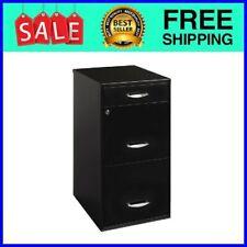 18w 3 Drawer Organizer File Black Measures 1800 L X 1425 W X 2709 H