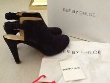 "Women's Shoes - See By Chloe 4"" Dark Purple Suede Fashion Ankle EU40/US10M"