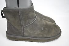UGG Australia Women's Classic Mini Short Gray #5854 Suede Ankle Boots  8